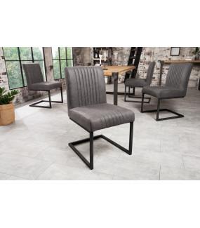 Krzesło Big Aston antyczne szare
