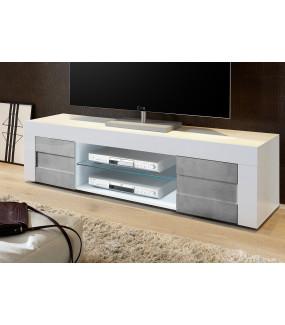 Stolik Pod TV EASY 180 Cm Biały Z Imitacją Betonu