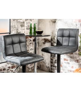 Krzesło barowe Modena antyczne szare