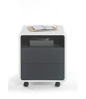 Kontenerek TADEO biało antracytowy idealny do przestrzeni biurowej
