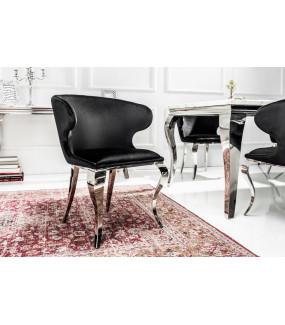 Krzesło Modern Barock II czarny aksamit