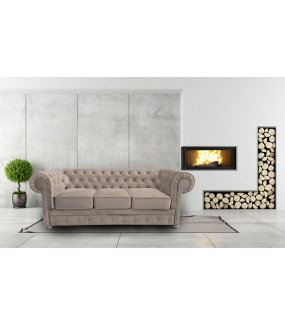 Sofa Chesterfield Modern-Materiał Wodoodporny bez funkcji spania