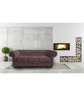 Sofa Chesterfield Modern - Materiał Wodoodporny z funkcją spania