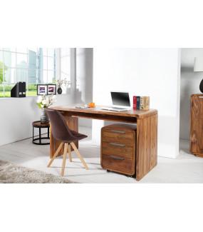 Naturalnego biurko z drewna Sheesham do gabinetu