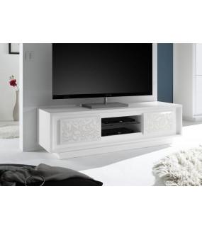 Stolik pod TV SKY biały 156 Cm Biały z ozdobnym nadrukiem