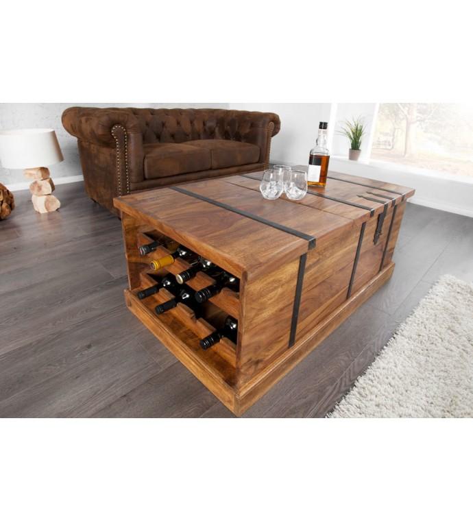 Stolik kawowy z drewna sheesham to świetny pomysł, aby zaaranżować klasyczne oraz industrialne wnętrza.