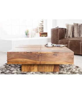Unikalny drewniany stolik kawowy