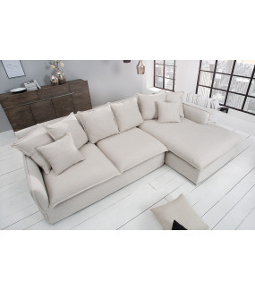 Sofa Narożna Heaven 255 Cm naturalny len