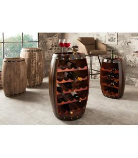 Pojemny stojak na wino Chateau idealnie wkomponuje się do wnętrz loftowych oraz nowoczesnych.