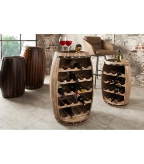 Praktyczny stojak na wino do wnętrz skandynawskich lub nowoczesnych.