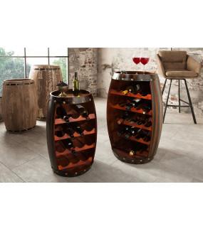 Stojak na wino będzie pięknym elementem dekoracyjnym i praktycznym w skandynawskim salonie lub pokoju vintage