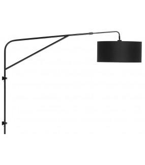 Lampa Ścienna Brighton Czarna 47x23 cm