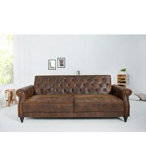 Sofa rozkładana RAYAN220 cm antyczny brąz