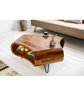 Oryginalny stolik kawowy z naturalnego drewna sheesham