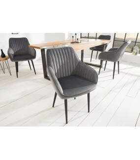 Krzesło Turin srebrno szare