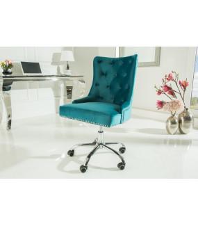 Fotel biurowy Victorian turkusowy