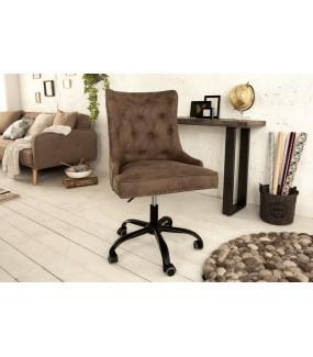 Fotel biurowy Victorian brązowy