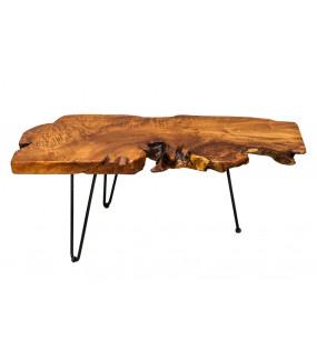 Stolik kawowy Wild z naturalnego drewna, Teak