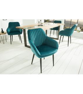 Krzesło Turin turkusowe do jadalni