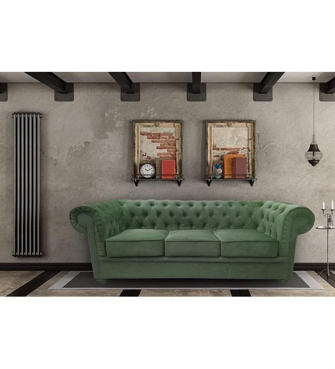 Sofa Chesterfield Modern Barock II - Materiał Wodoodporny bez Funkcji Spania