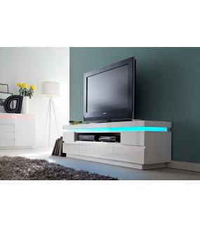 Stolik pod TV OCEAN 175 cm biały z oświetleniem