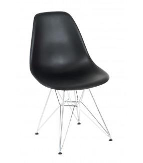 Krzesło P016 PP  Inspirowane DSR Czarne