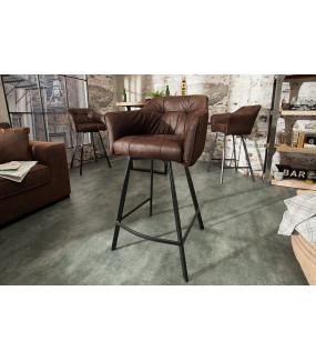 Krzesło barowe Loft antyczny brąz