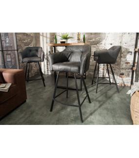 Krzesło Barowe Loft Antyczny szary