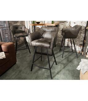 Krzesło Barowe Loft ciemnoszare