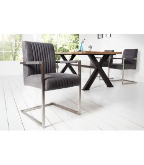 Krzesło Big Aston Szare