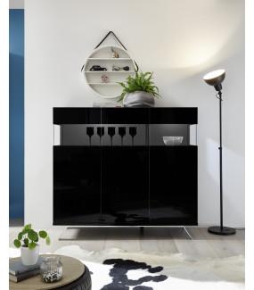 Komoda GLAMOUR 138 cm Czarna