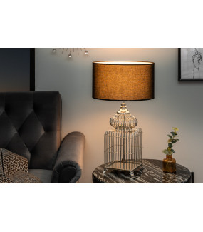 Lampa stołowa Cage 68 cm srebrna