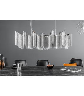 Lampa wisząca Elegance 118 cm srebrna