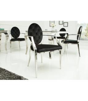 Krzesło Modern Barock czarne do salonu