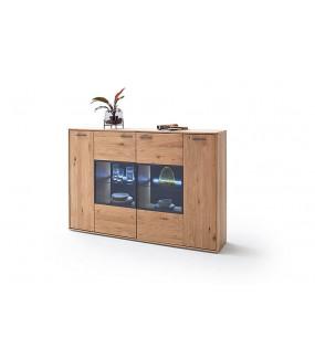 Komoda do salonu PORTLAND 184 cm dębowa