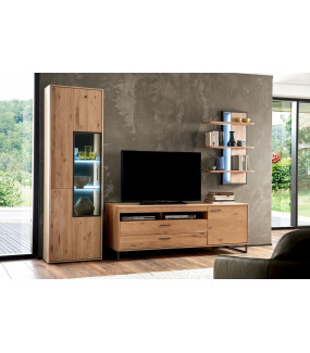 Stolik pod TV PORTLAND 184 cm dębowy do salonu