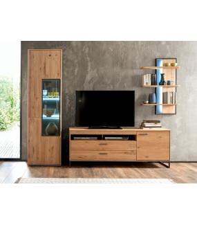 Stolik pod TV PORTLAND 184 cm dębowy