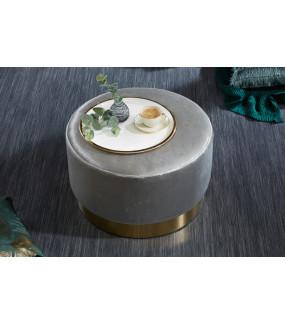 Pufa Modern Barock 55 cm srebrna