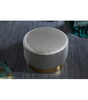 Pufa Modern Barock 55 cm srebrna do salonu
