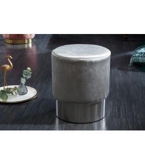 Pufa Modern Barock 35 cm srebrna