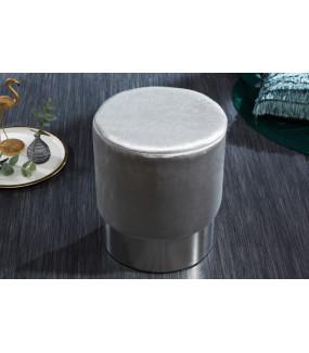 Pufa Modern Barock 35 cm srebrna do salonu