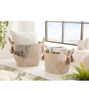Zestaw 2 koszy Bamboo Lounge Seegras