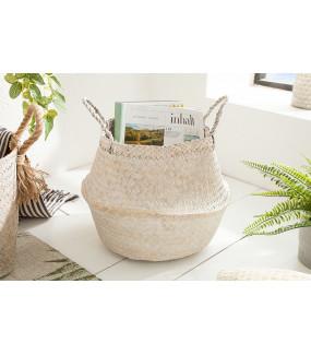 Kosz Bamboo Lounge 35 cm biały