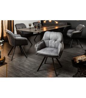 Krzesło obrotowe Lounger szare