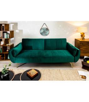 Sofa rozkładana Divani II 215 cm zielony aksamit