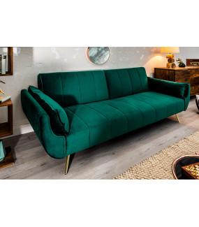 Sofa rozkładana Divani II 215 cm zielony aksamit do salonu