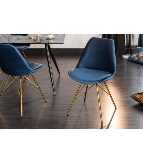 Krzesło Scandinavia Retro ciemnoniebieskie