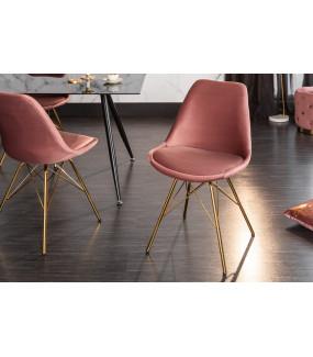 Krzesło Scandinavia Retro różowe