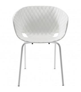 Krzesło Radar Bubble białe