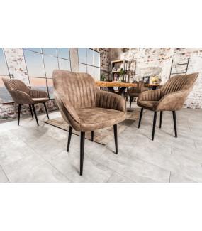 Krzesło Turin antyczne szare